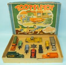 RARE PREWAR 1937 TOOTSIETOY MOTOR CARS DOWST MFG CO TRUCK PLAY SET # 5210 IN BOX
