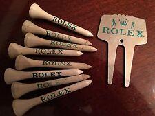 Vintage Rolex Golf Divet Tool Ball Marker Chrome Finish w/ 8 Rolex Golf Tee