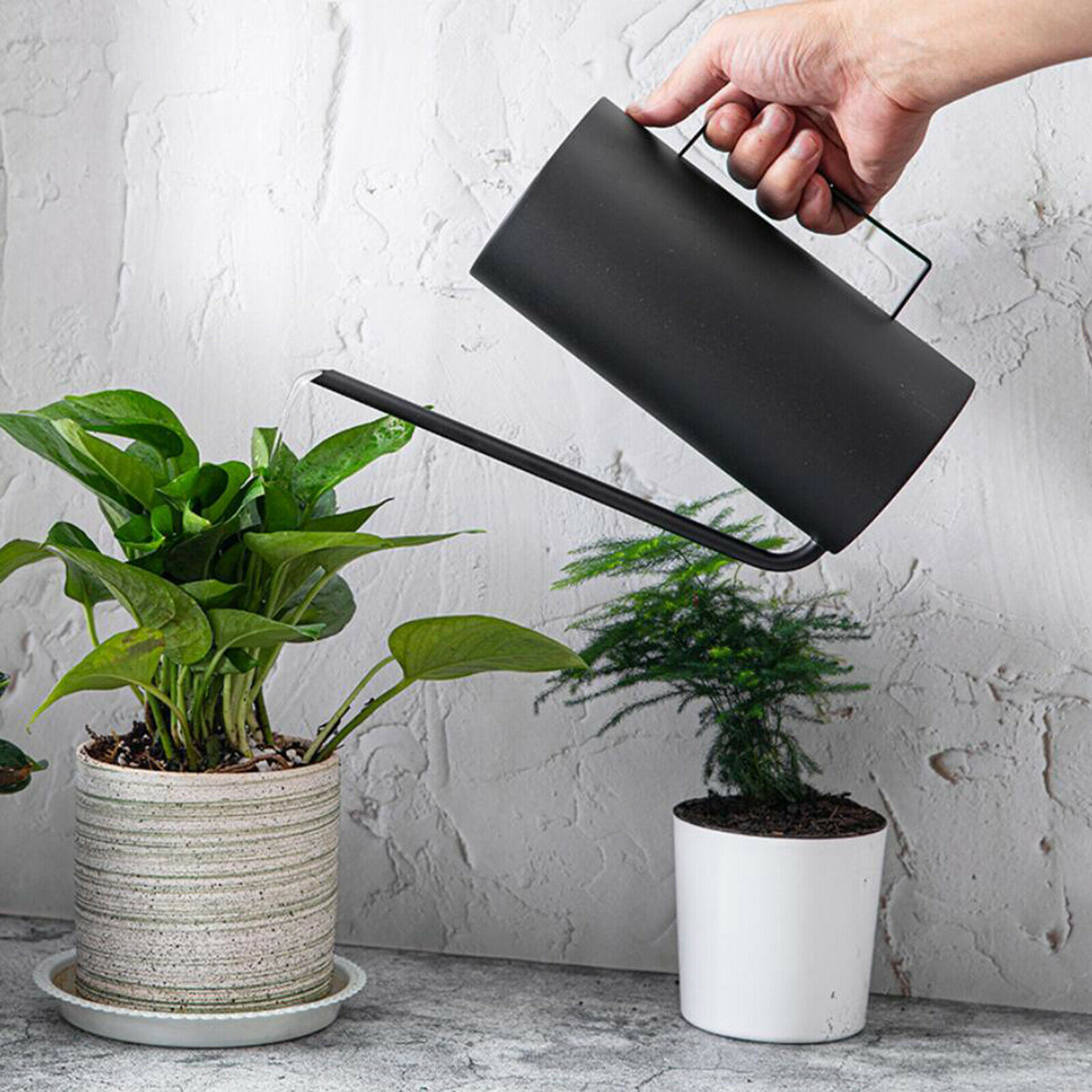 Stainless Water Can Long Spout for Patio Plants Easy-to-Clean Multi-Purpose