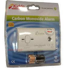 Kidde Monossido di Carbonio Allarme + BATTERIE RILEVATORE DI GAS ALLARME 10 anno di vita 7co Kiddy
