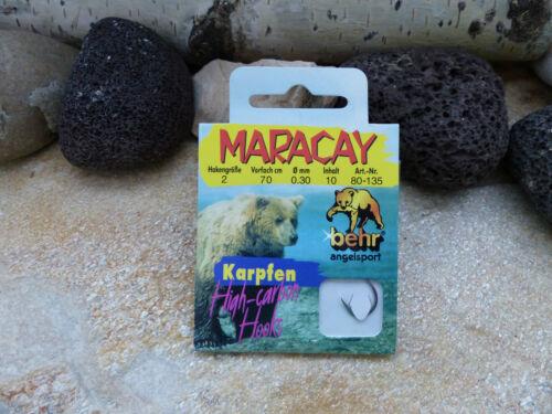 MARACAY KARPFEN HAKEN VON BEHR HIGH CARBON HOOKS BLACK 80-135 ABVERKAUF