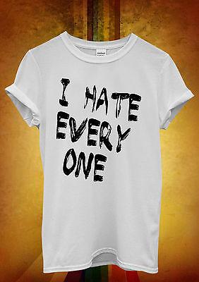 Diligente Odio Tutti X Buffo Cool Hipster Uomini Donne Unisex Maglietta Tank Top Canotta 499-mostra Il Titolo Originale Gli Ordini Sono Benvenuti