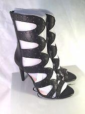 Jessica Simpson Erikka2 Black Leather High Heel Sandal Size 8 M - NEW