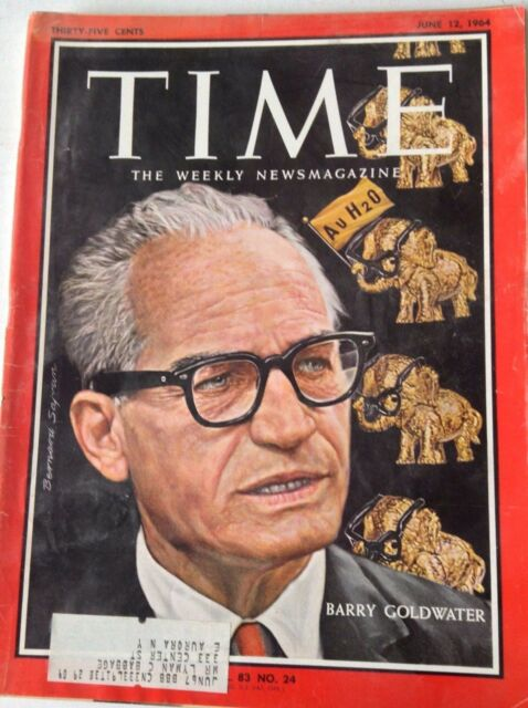 Time Magazine Barry Goldwater June 12, 1964 050417nonrh
