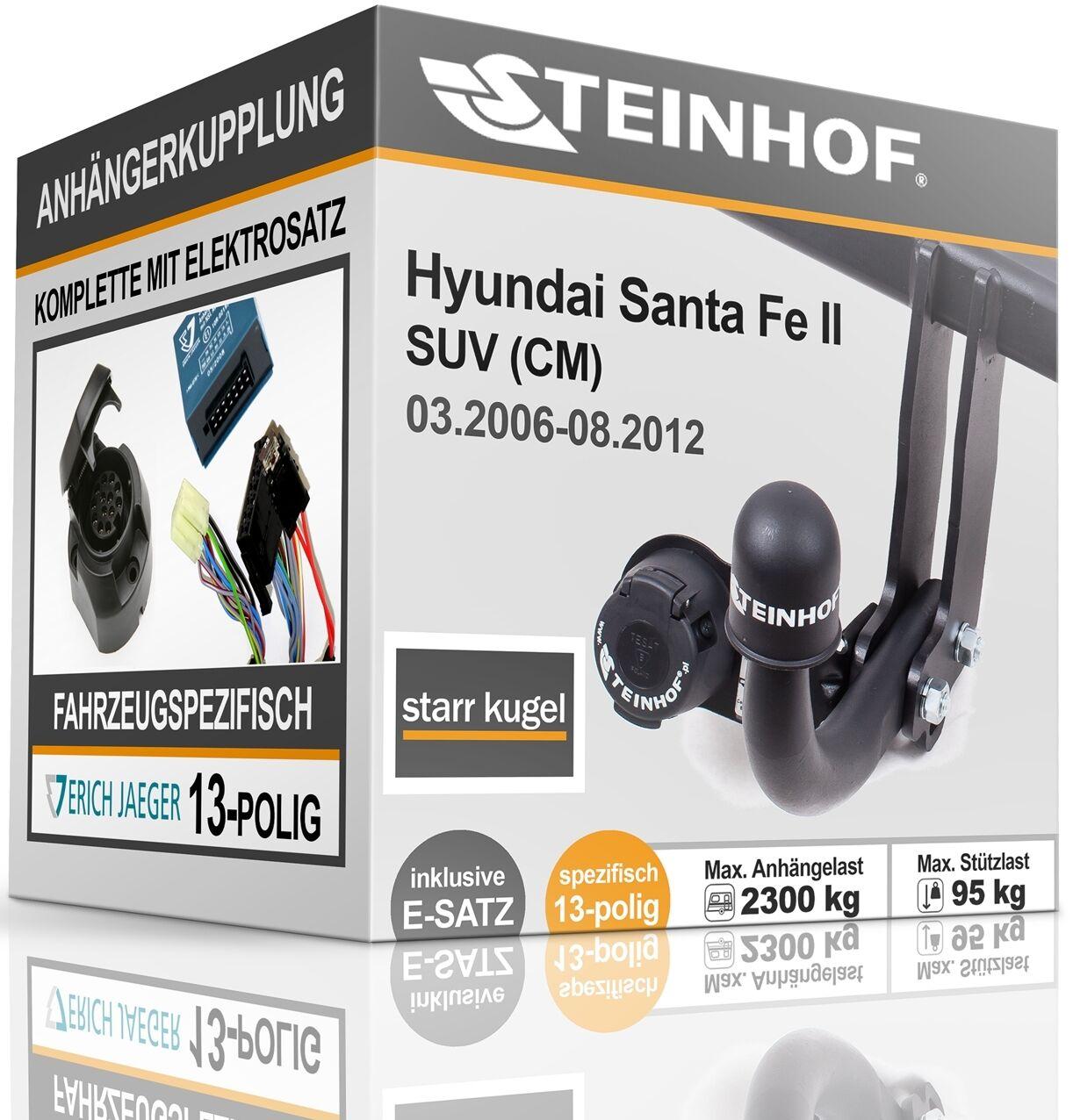 7-pol E-Satz Für Hyundai Santa Fe 06-12 Anhängerkupplung starr