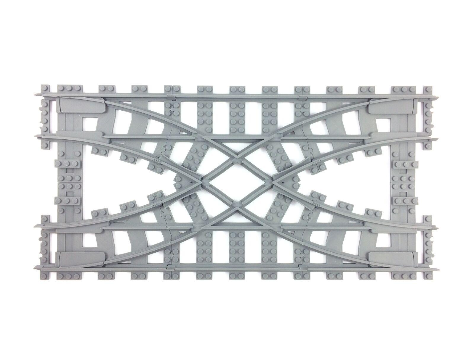 Trixbrix  doppio Crossover compatible with Lego Train  molte sorprese