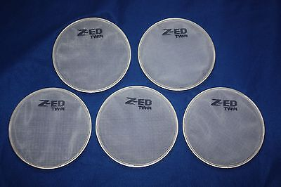 8in White Twin Ply Mesh Heads To Convert Alesis Dm5 Pro Drum Kit X 5 Pieces