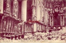 BELGIUM. YPRES CAMPAGNE 1914-1915 CATHEDRALE SAINT-MARTIN APRES LE BOMBARDEMENT