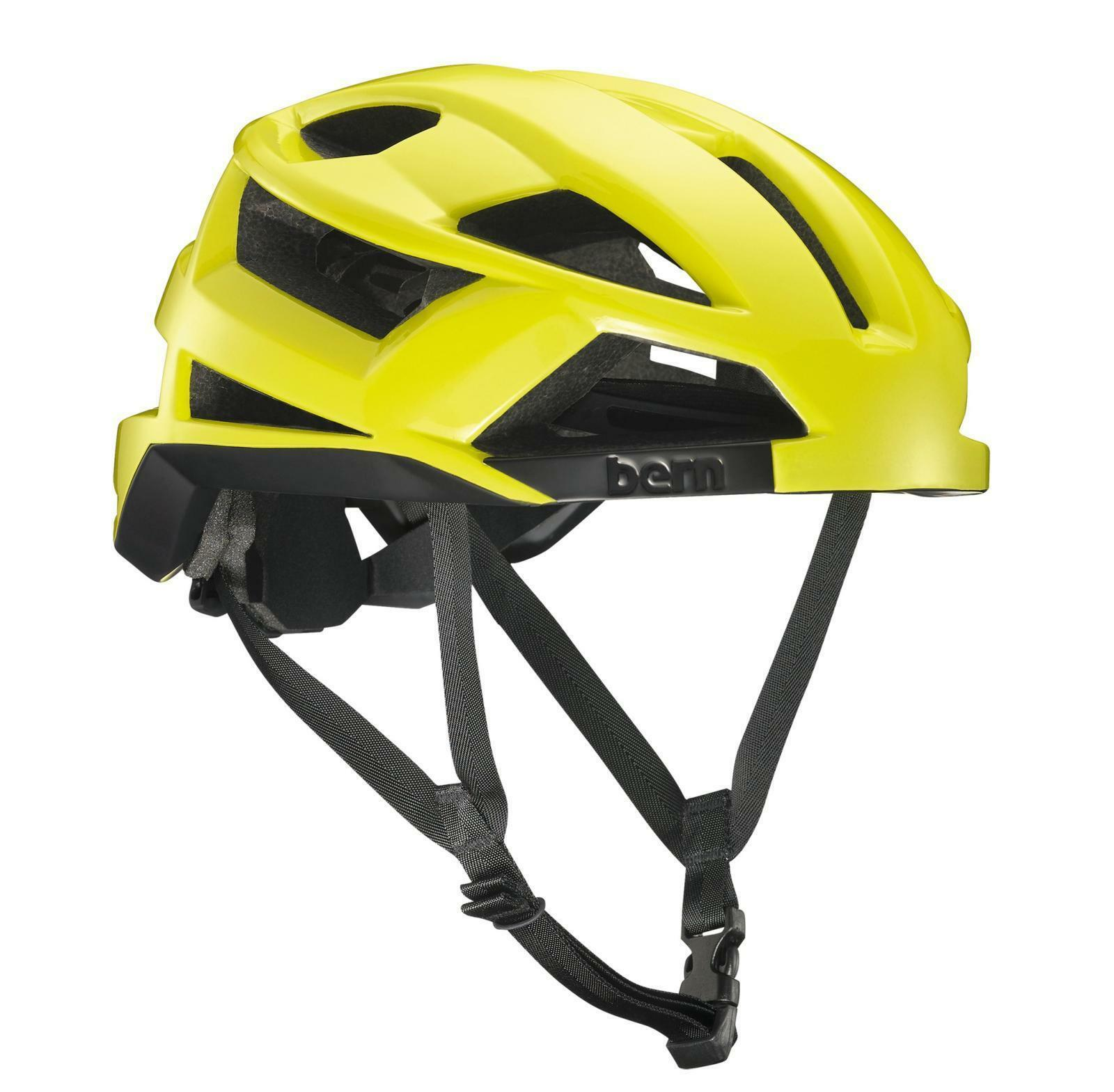 Bern Helm FL-1 Inmold Fahrrad Helm, Fahrradhelm  S  52-55,5cm, Neon yellow