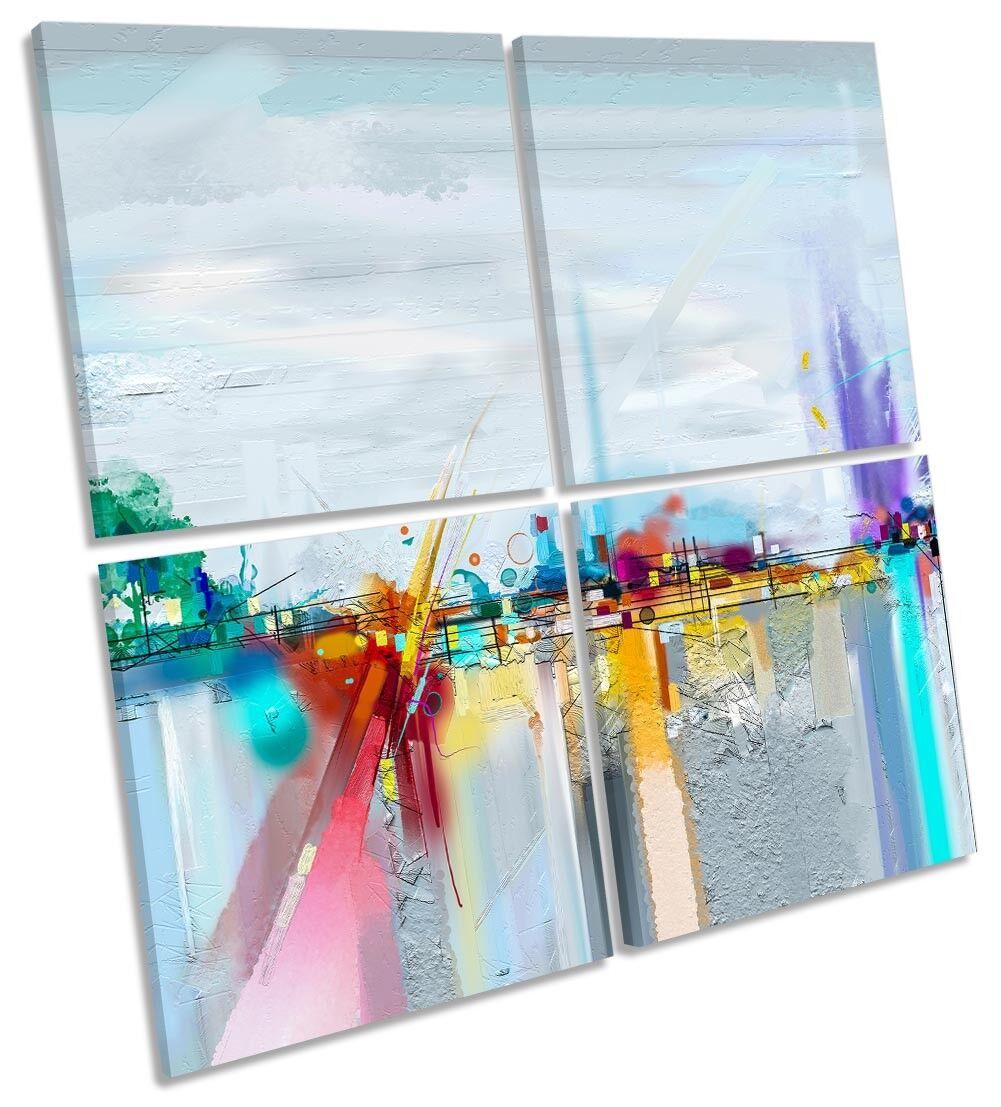 Paisaje Abstracto Ciudad DE LONA pared arte cuadrado de arte la obra de arte de de múltiples 3fb63f