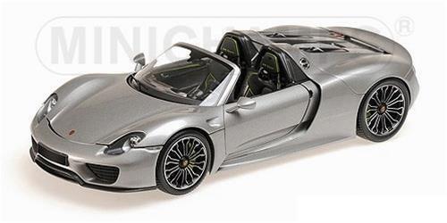 MINICHAMPS 2013 Porsche 918 Spyder grigio Production Edition 1 18New