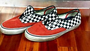 d5bdfe1562 Image is loading Supreme-Vans-Checkerboard-Corduroy-Coral-Red-Check-10-