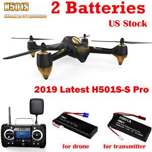 Hubsan X4 H501S Pro Drone FPV Brushless 1080P GPS Follow Me RC Quadcopter RTF UK