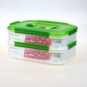 UZO1 Stack and Lock Food Container with 2 Tier Interlocking
