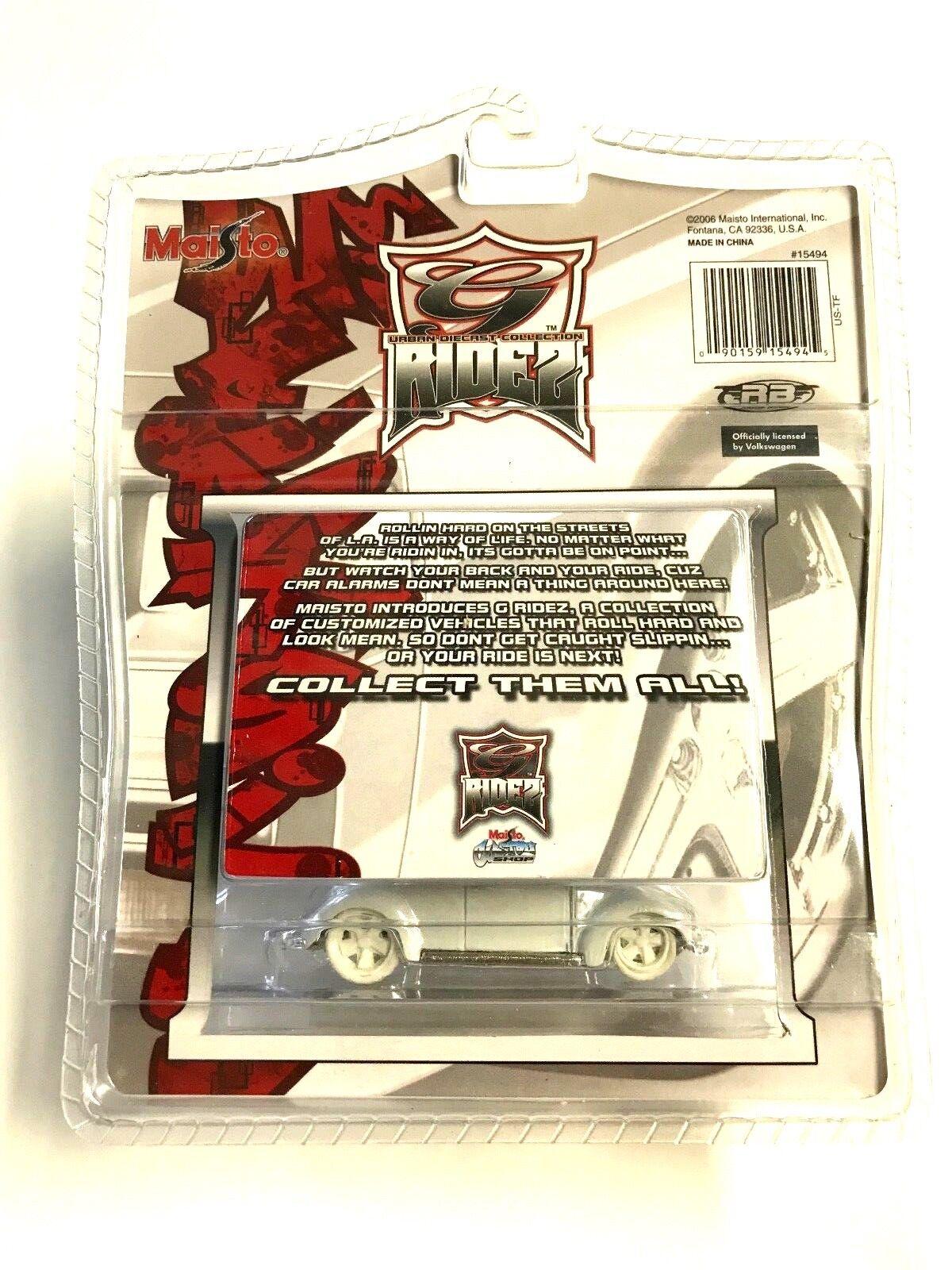 Maisto Maisto Maisto 2006 New York Toy Fair -  G Ridz  Chopped White VW Bus VHTF e83bd8
