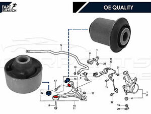 Para-HONDA-CIVIC-CRV-FRV-Stream-Delantero-Trasero-De-Brazo-De-Suspension-Inferior-Wishbone-Bush-Kit