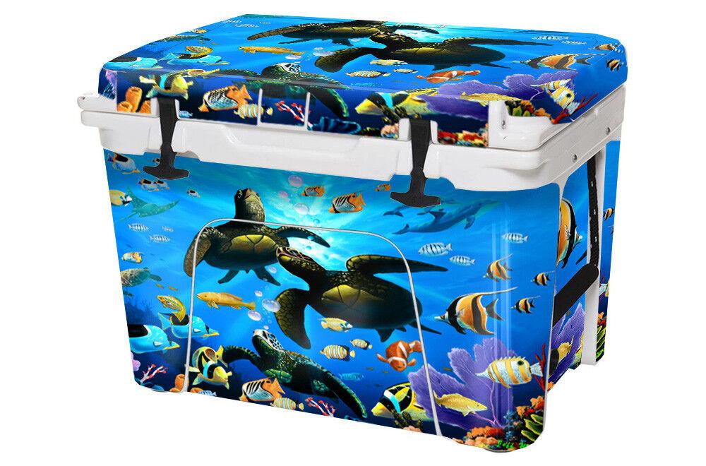 USATuff Custom Cooler Decal Wrap fits YETI Tundra 75qt FULL Honu Paradis