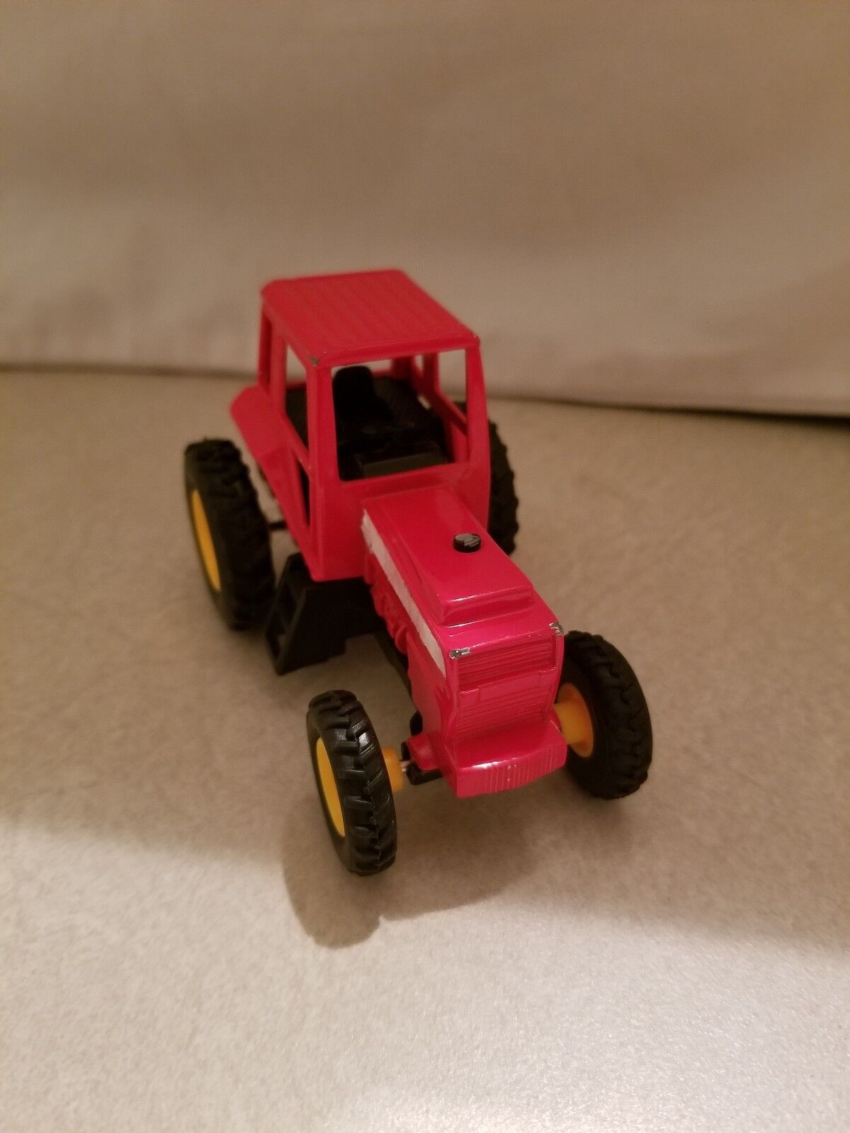 SMALL RED PULL AND LET GO RED CAB OVER  TRACTOR TOY 4  FREE SHIPPING