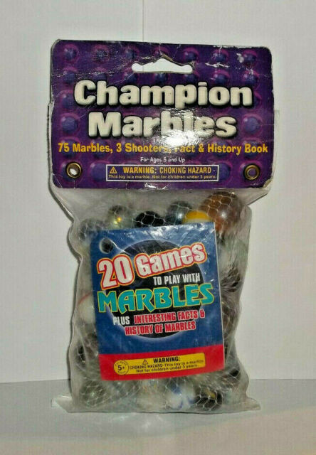 Champion Marbles 75 Marbles 3 Shooters 20 Games Facts & History Book