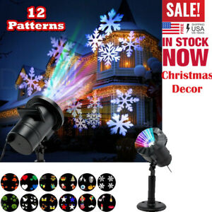 Christmas-Landscape-Lights-Projector-LED-Spotlight-12-Pattern-Motion-Waterproof