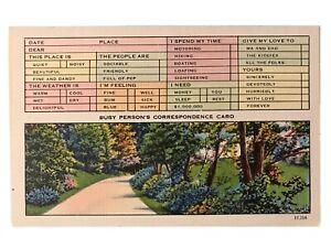 Busy-Person-039-s-Correspondence-Card-Postcard