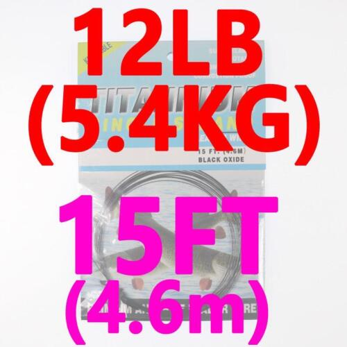 Fishing Line 15ft 4 6m No Kink Titanium Leader Saltwater Pike Trace Tools Lines