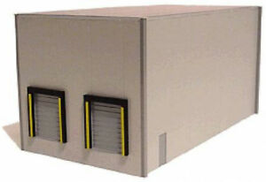 HO-Promotex-6321-Modern-Dual-Bay-Warehouse-Building-Kit-Grey