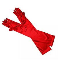Red Opera Long Ladies Gloves Flapper Gatsby  20s 30's Burlesque Fancy Dress