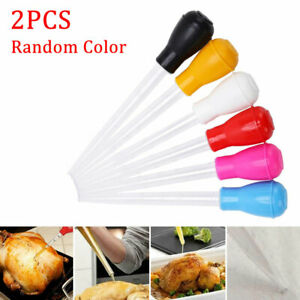 2Pcs Cooking Chicken Turkey 30ml BBQ Food Flavour Syringe Tube Pipe TYPE  UK