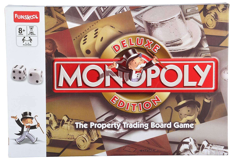 Funskool monopol hasbro deluxe spielen brettspiel immobilienhandel brettspiel