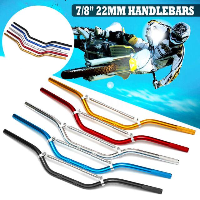 "Drag Bar Motorcycle Handlebar 7//8/"" 22mm For Dirt pit Bike motocross off road New"
