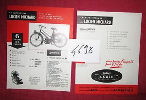 N°4698 prospectus le cyclomoteur Lucien MICHARD équipé du moteur Junior