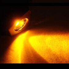 Resistanz Windscreen Washer Jets Orange LED 12V Universal Black Rubber