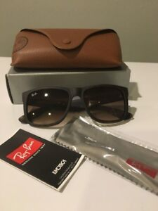 25b95e10f91 Image is loading Ray-Ban-Justin-Classic-Brown-Gradient-Sunglasses-RB4165-