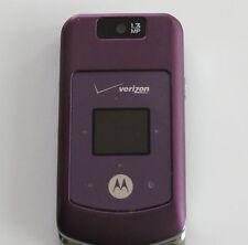 GREAT Verizon Motorola W755 PURPLE No Contract 3G 1.3MP Camera MP3 Flip Phone