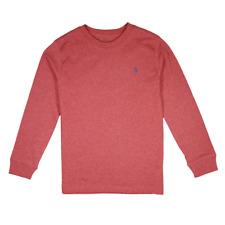 Polo Ralph Lauren Kid's Heather Maroon Red Cotton Jersey Crew Neck L/S T-Shirt