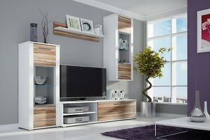Image Is Loading TV Wall Unit BEN New Modern Set Of  Part 44