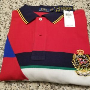 New-Polo-Ralph-Lauren-Mesh-Shirt-XLT-Short-Sleeve-Multicolor-Newport-2-new-York