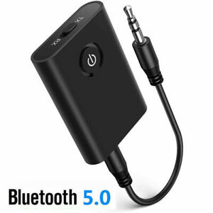 2 IN 1 Bluetooth 5.0 Transmitter Receiver Wireless Audio 3.5mm Jack Aux Adapter