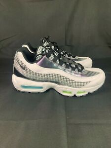 Details about Nike Air Max 95 LV8 Sneaker WhiteBlackBlue Gaze Shoes AO2450 100