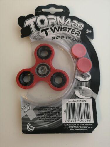 Tornado Twister Dito Fidget Spinner Tasca lo stress ADHD autismo-Rosso
