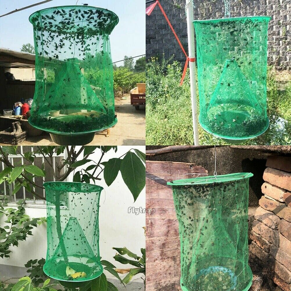 Green Fly Cage Environment-Friendly Fly Trap Folding Hanging