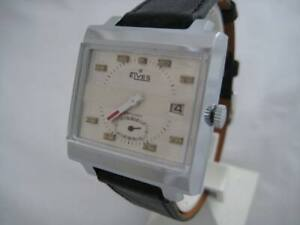 NOS-NEW-SPECIAL-SQUARE-ELVES-MEN-039-S-WATCH-WITH-DATE-1960-039-S