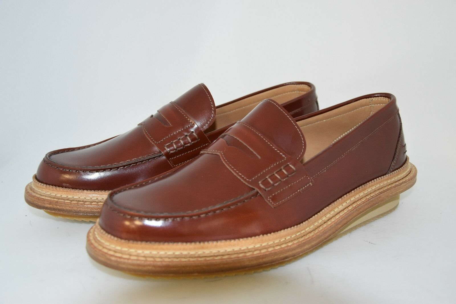 Homme-41-7eu-8usa-PENNY LOAFER-CALF rougeDISH marron-LEATHER+ZEPPA RUBBER SOLE