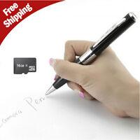 Silver HD 16GB Spy Pen Camera DVR Audio Video Recorder Camcorder Mini 1280X960