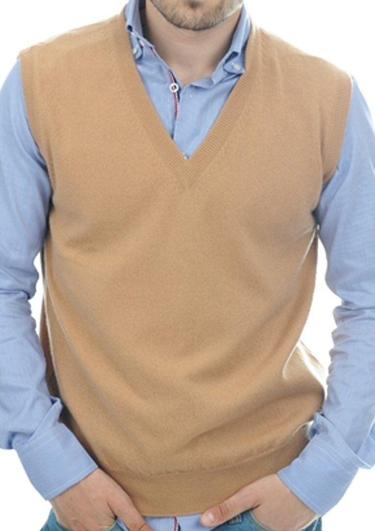 Balldiri 100% Cashmere Cashmere Cashmere Herren Pullover Pullunder V-Ausschnitt 2-fädig camel S     | Vogue  | Outlet Store Online  | Qualifizierte Herstellung  | Ausgewählte Materialien  | Lebendige Form  b58271