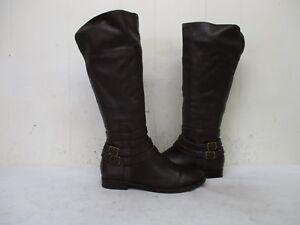 MATISSE BLAKELY Braun Leder Zip Zip Zip Riding Stiefel Damenschuhe Größe 7 M     c345dd