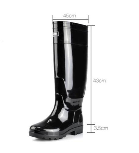 Herren Schuhe Gummistiefel Wasserdicht Regenstiefel Windgeschützt Langeschaft