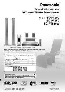 Panasonic sc-pt865 manuals.