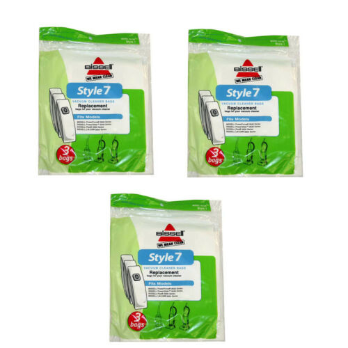 9 Bissell 32120 Style 7 Vacuum Cleaner Paper Bags Genuine